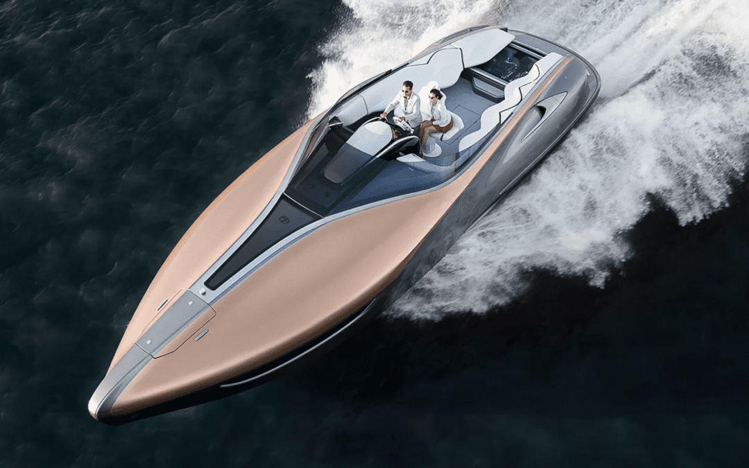 Fabulous boats and luxury cars crossovers