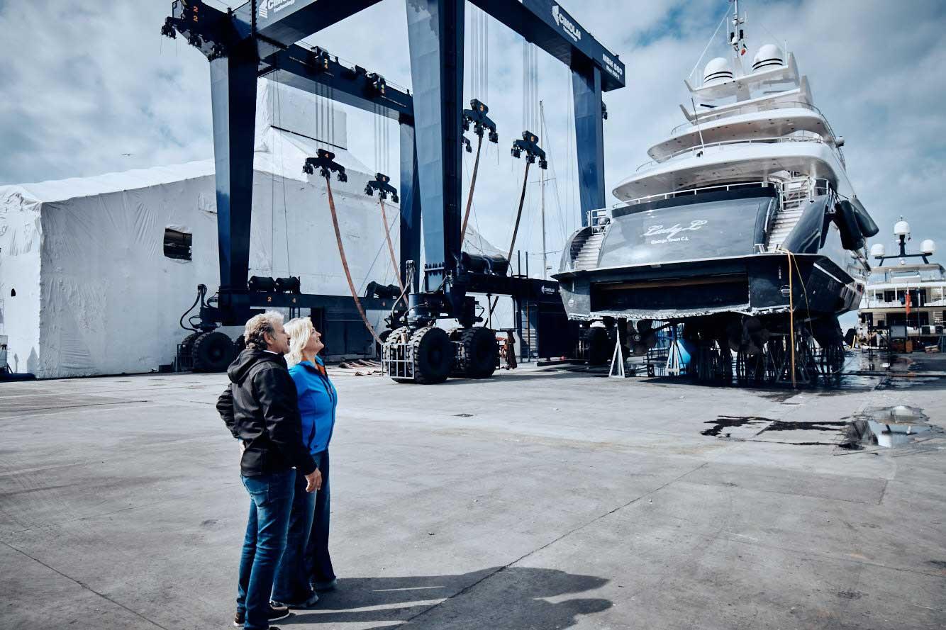 Yacht building at Codecasa shipyard