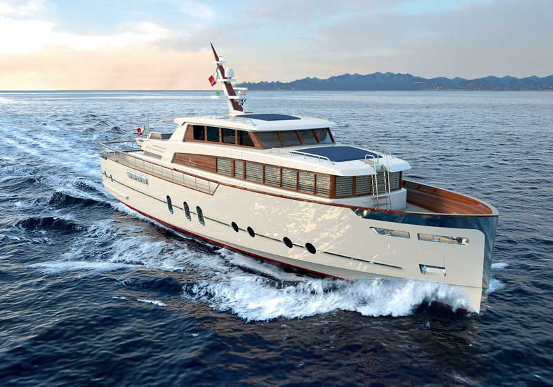 Codecasa motor yacht running